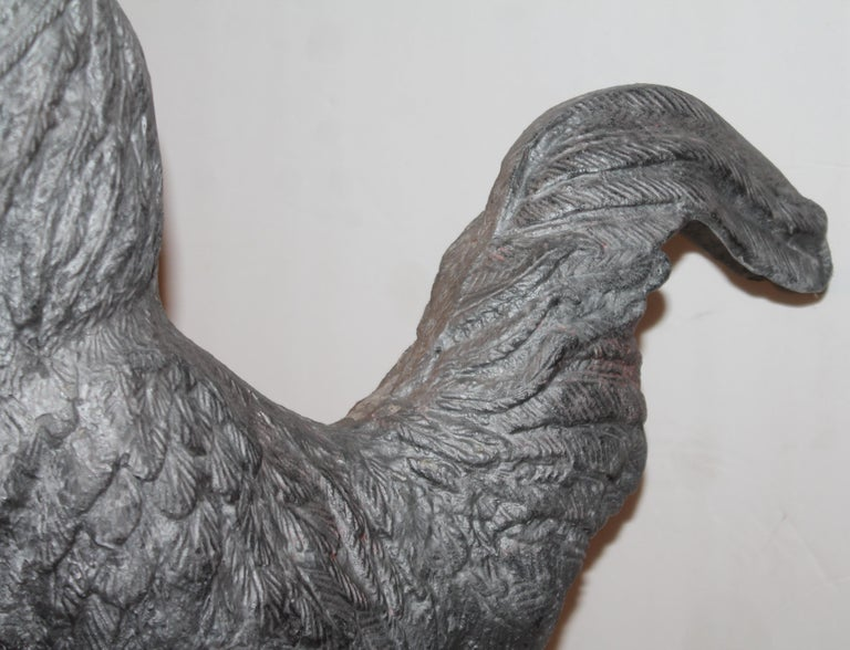 Monumental Zinc Rooster from a Garden For Sale 1