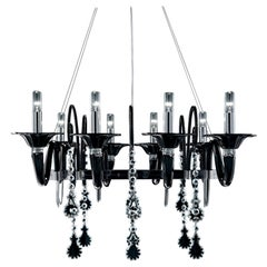 Mood Taif 7022 Chandelier in Glass, by Franco Raggi