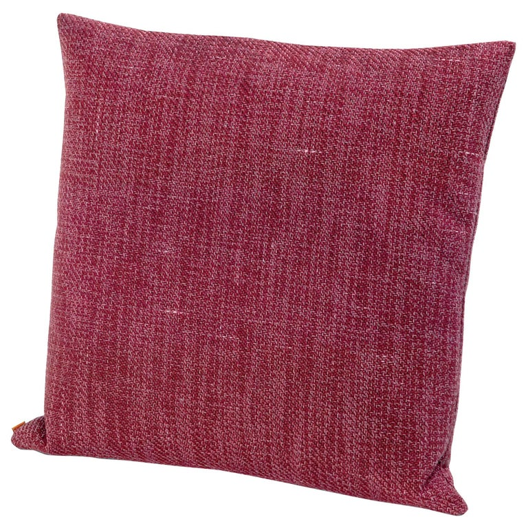 For Sale: Pink (1H4CU00782-T28) Moomba Small Yarn-Dyed Cushion in Jewel Tones by MissoniHome