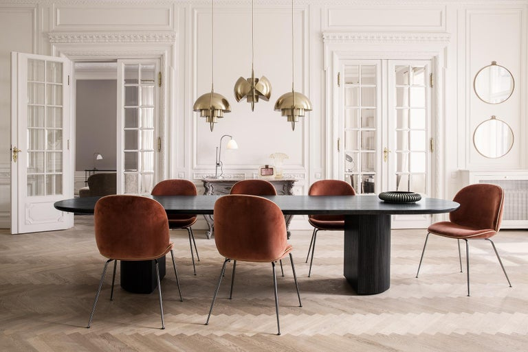 Danish Moon Dining Table, Round, Wood Top, Large For Sale