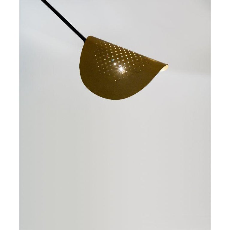 Brass Moon Floor Lamp by SB26 For Sale