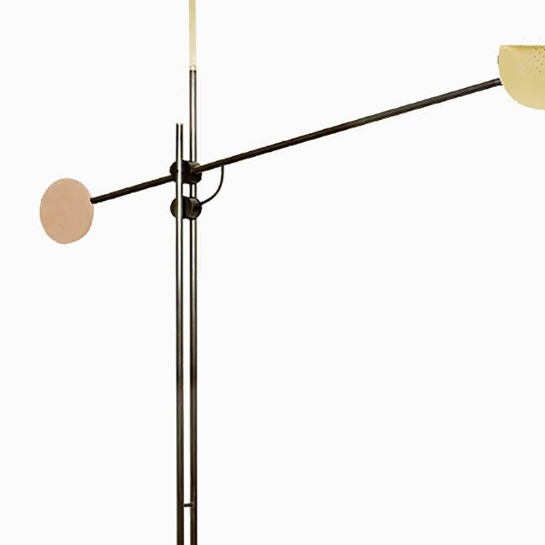 Oiled Moon Floor Lamp For Sale