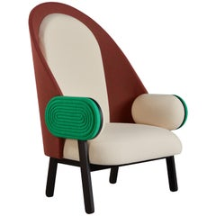 'Moon I-B' Armchair, a Contemporary Piece with a Vintage Twist