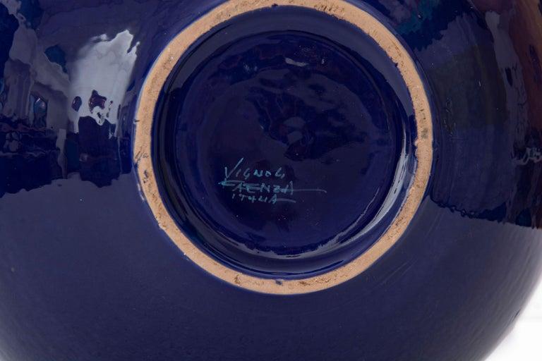 Moon Jar by Bottega Vignoli Hand Painted Glazed Faience Contemporary For Sale 1