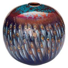Moon Jar by Bottega Vignoli Hand Painted Majolica Contemporary 21st Century