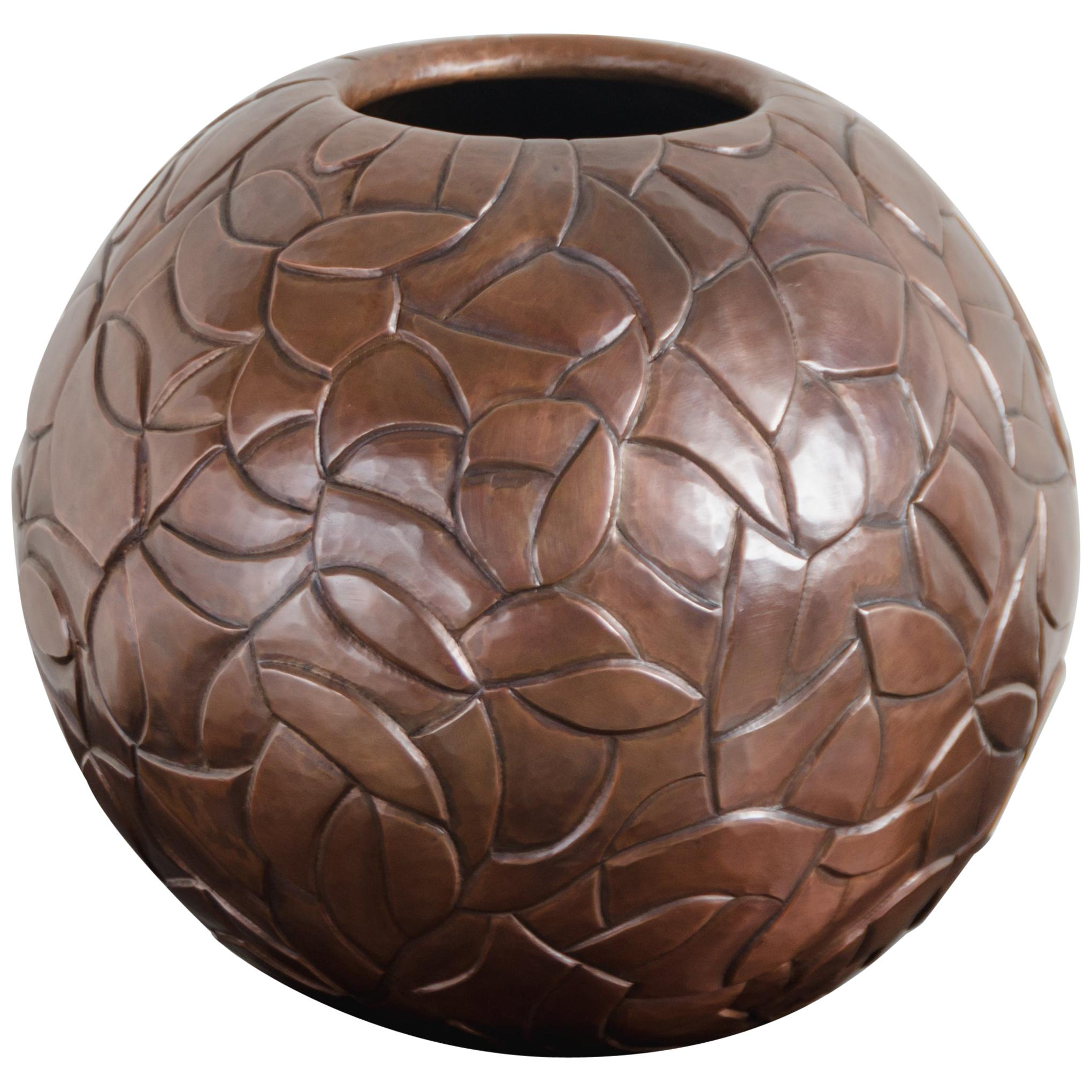 Moon Jar w/ Chuan Design - Antique Copper by Robert Kuo, Limited Edition