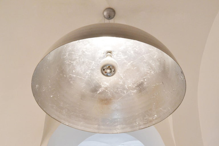 Modern 'Moon' Large Round Silver Leaf Ceiling Light / Lantern / Pendant by Element&Co For Sale