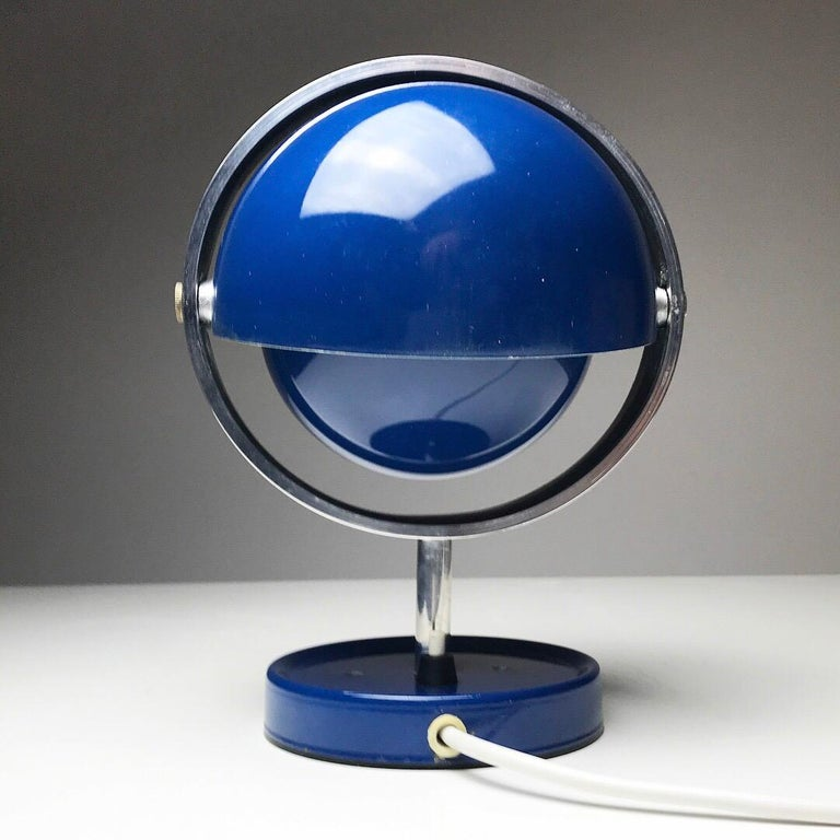 Scandinavian Modern Moon Light table lamp by Brylle and Jakobsen for Quality System, Denmark 1960s  For Sale