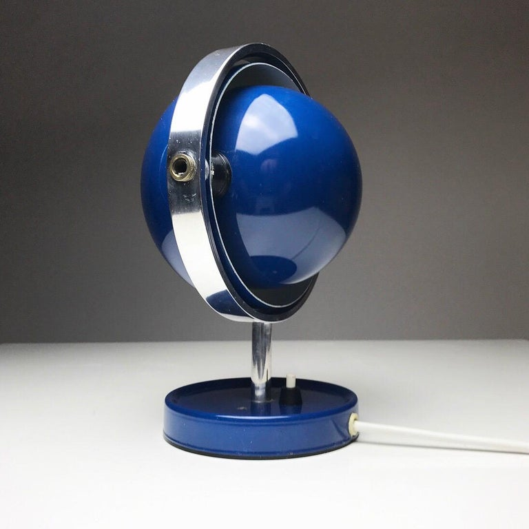 Danish Moon Light table lamp by Brylle and Jakobsen for Quality System, Denmark 1960s  For Sale