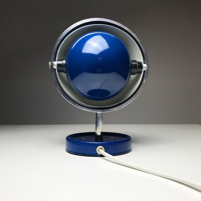 Mid-20th Century Moon Light table lamp by Brylle and Jakobsen for Quality System, Denmark 1960s  For Sale