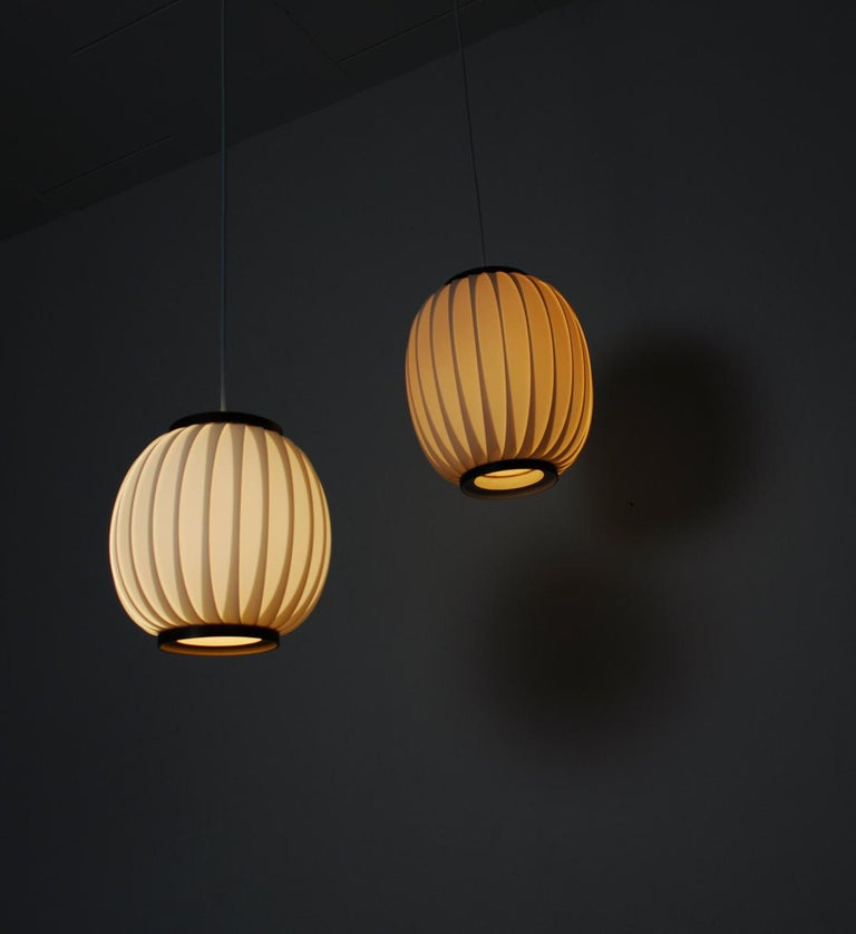 Bojan Pendant Lamp by Lars Eiler Schiøler for Hoyrup Light, 1970s For Sale 2