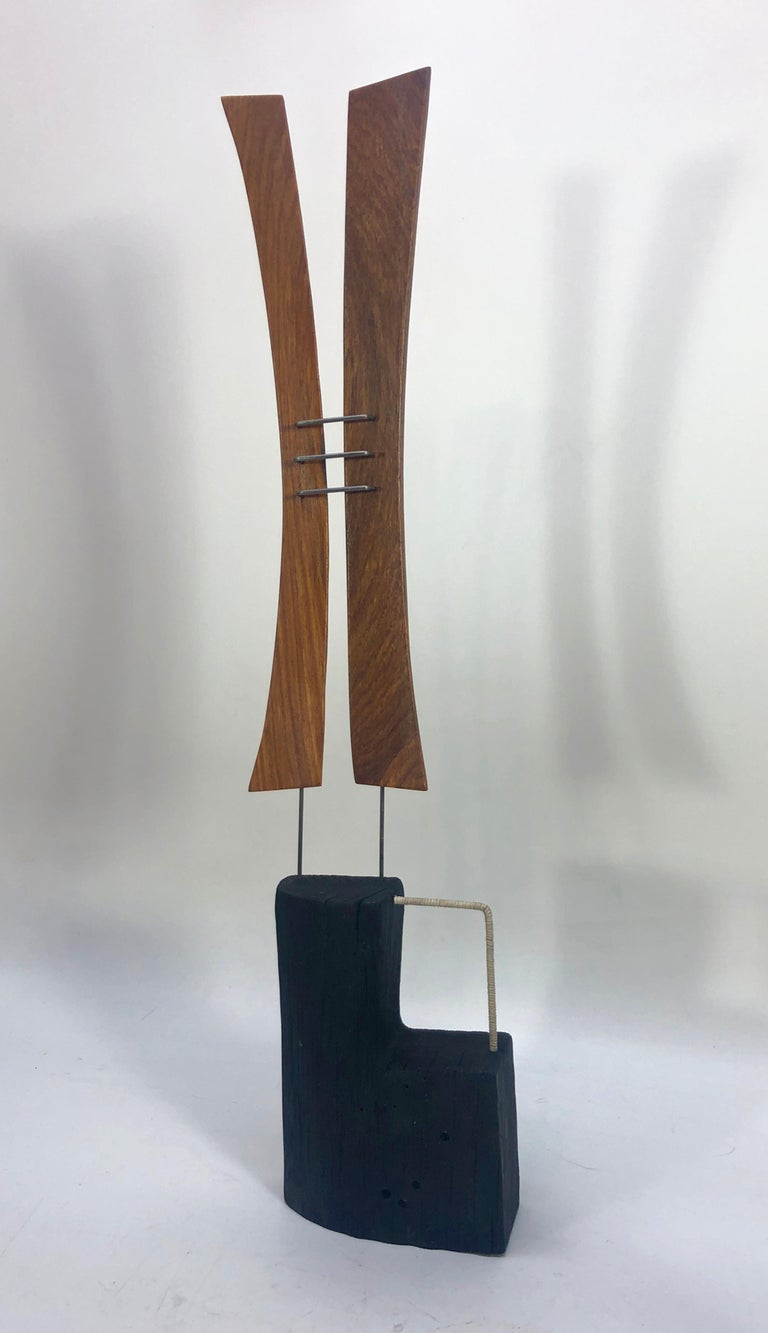 Moon scape by Delaware Artist Adam Henderson. Wood and metal rod.