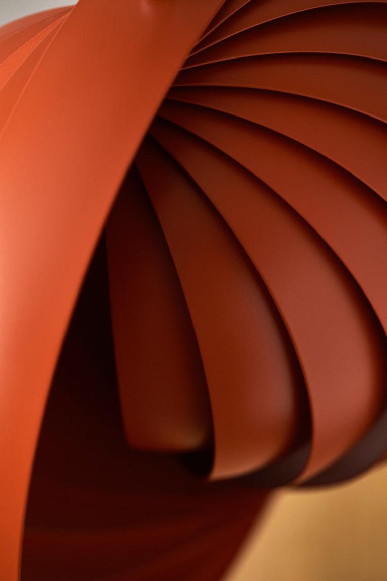 Modern Moon Small Pendant Light in Orange by Verner Panton For Sale