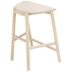 Moon Stool by Sun at Six, Nude, Minimalist Counter Stool in Oakwood