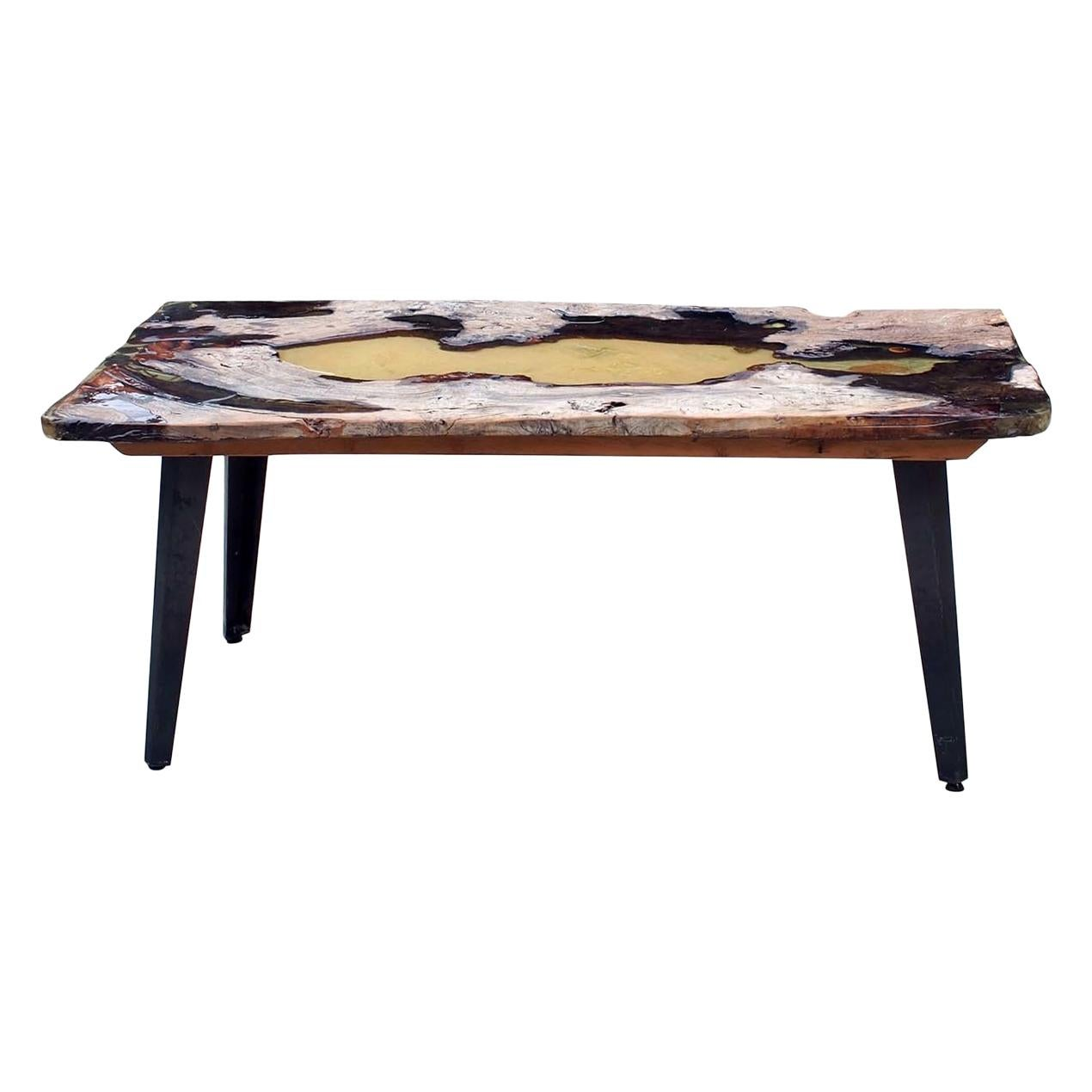 Moon Table in Ancient Elmwood