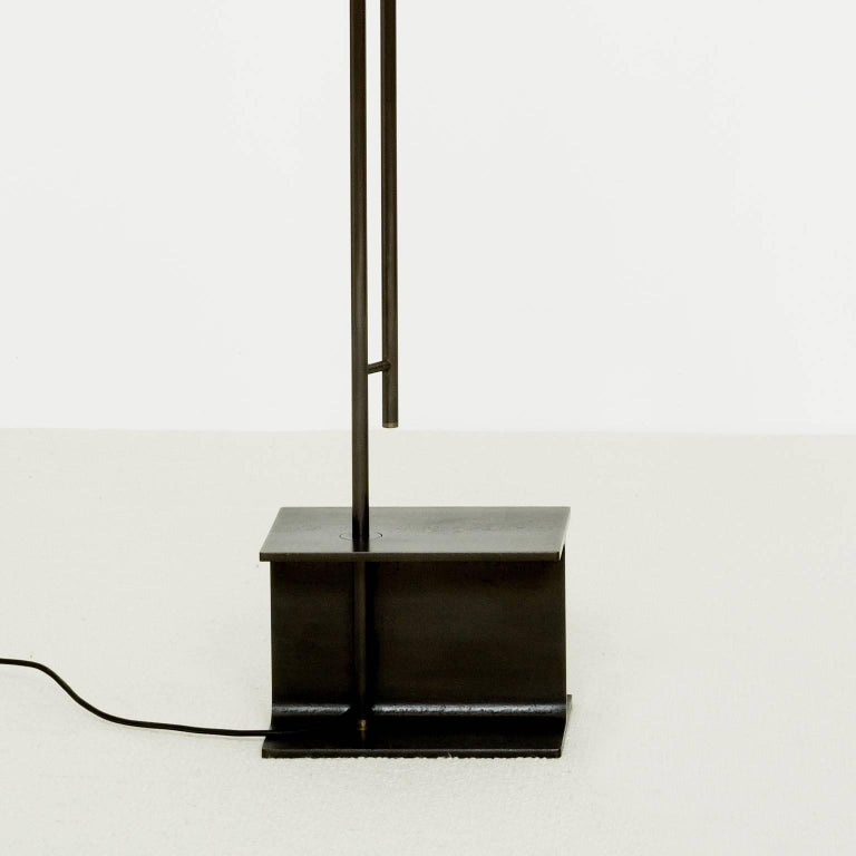 Oiled Moon Floor Lamp - Extra Large, Contemporary French Lighting For Sale