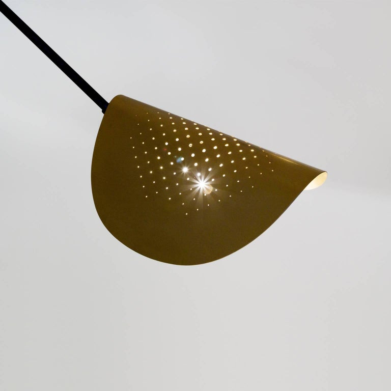 Gold Moon Floor Lamp - Extra Large, Contemporary French Lighting For Sale