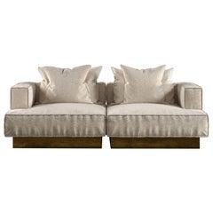 Moonage Daydream Modular Sofa Ivory Bouclé Fabric