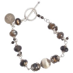 Moonlight Brown Moonstone Sterling Silver Bracelet
