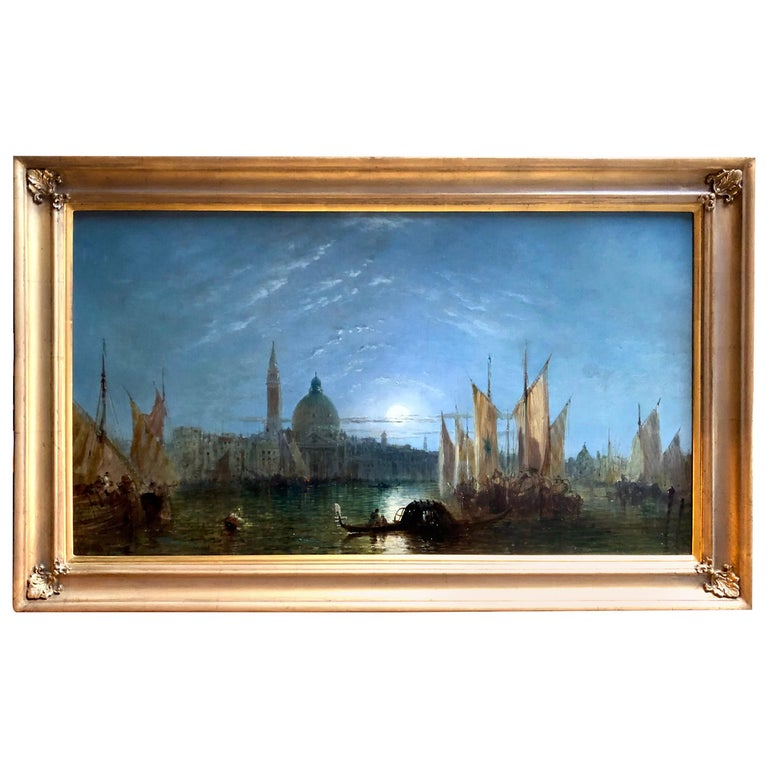 """Moonlight Over Venice"" by Jane Vivian For Sale"