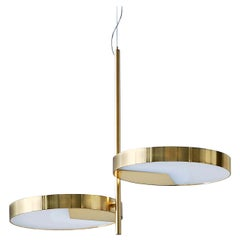 Moonlight Two-Light Brass Ceiling Lamp by Matteo Zorzenoni