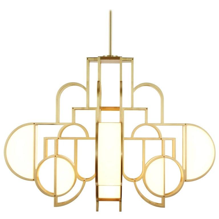 Lara Bohinc Moonrise chandelier, 2010, offered by Bohinc Studio
