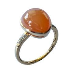 Moonstone, Diamond Rose Gold Ring, Netherlands