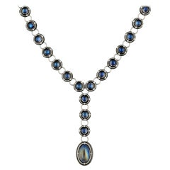 Moonstone Lavalier Necklace by Zoltan David