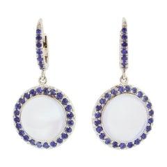Platinum Lever-Back Earrings