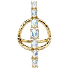 Moonstone  and Gold Statement Ring