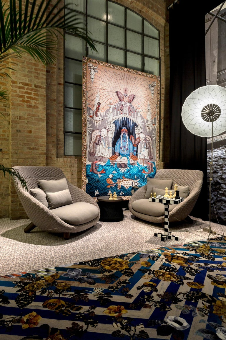 Moooi Love Sofa With High Back In Fabric Or Leather By