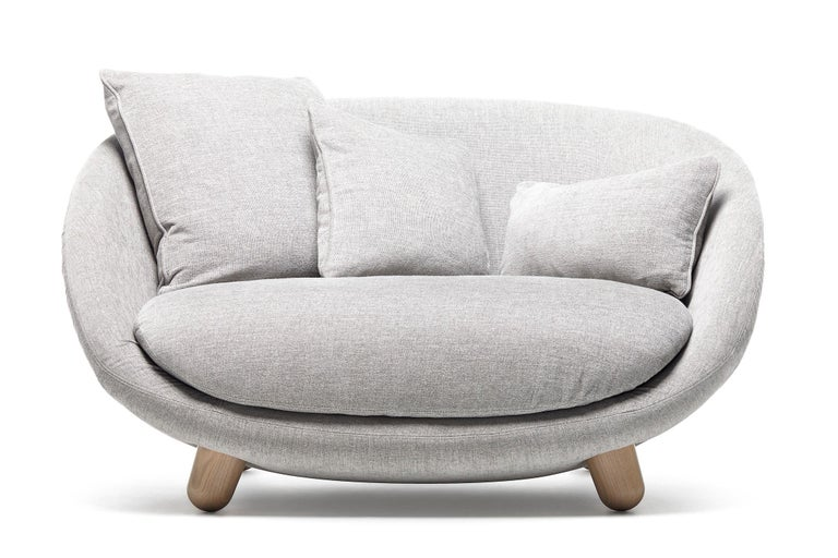 Moooi Love Sofa with Low Back in Fabric or Leather by Marcel Wanders For Sale 6