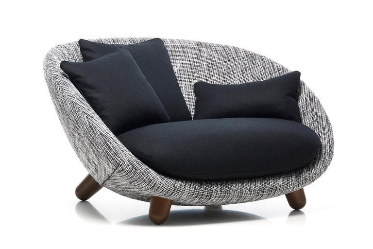 Stained Moooi Love Sofa with Low Back in Fabric or Leather by Marcel Wanders For Sale