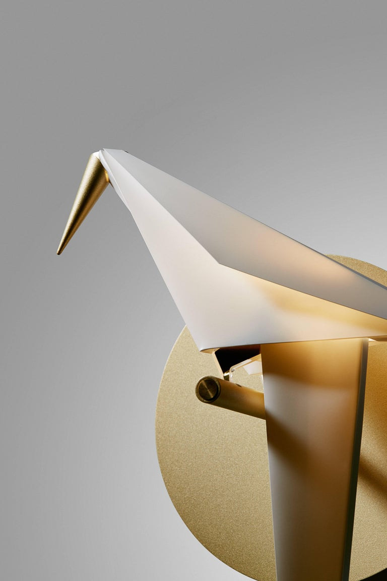 Moooi Perch Led Wall Sconce Light In Brass With Small