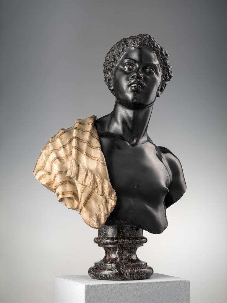 Italian Moor Marble Bust For Sale