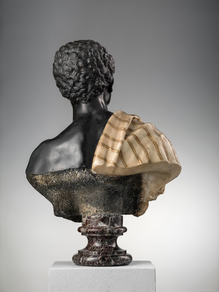 Moor Marble Bust In Excellent Condition For Sale In London, GB