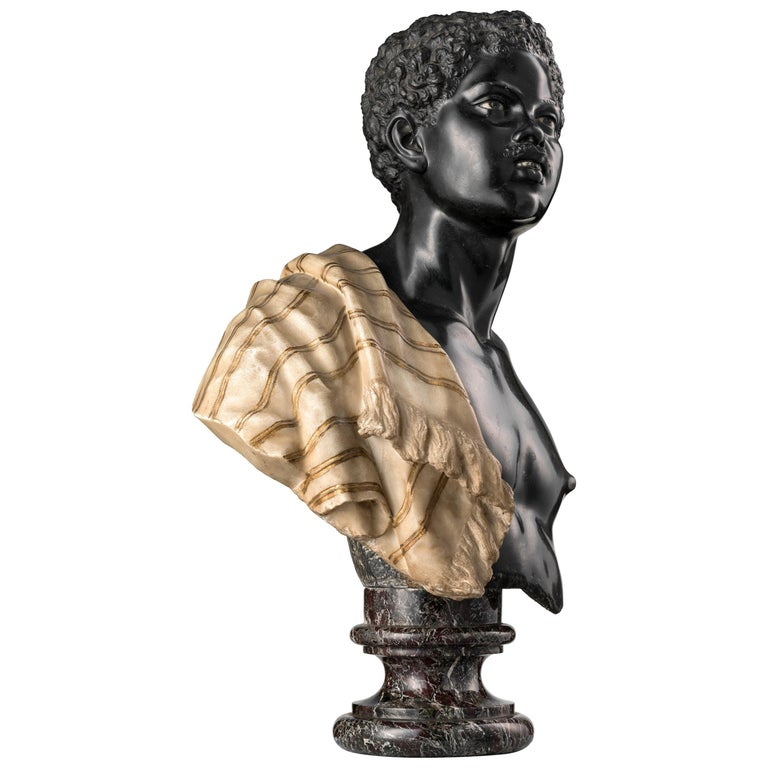 Moor Marble Bust For Sale