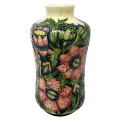 Moorcroft Pheasants Eye Pattern Large Flower Vase Hand Decorated Shirley Hayes