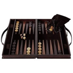 Ben Soleimani Moore Backgammon Set - Chocolate - Large