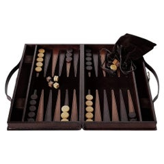 Ben Soleimani Moore Backgammon Set - Chocolate - Small