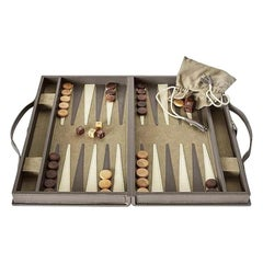 Ben Soleimani Moore Backgammon Set - Pewter - Large