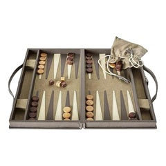 Ben Soleimani Moore Backgammon Set - Pewter - Small