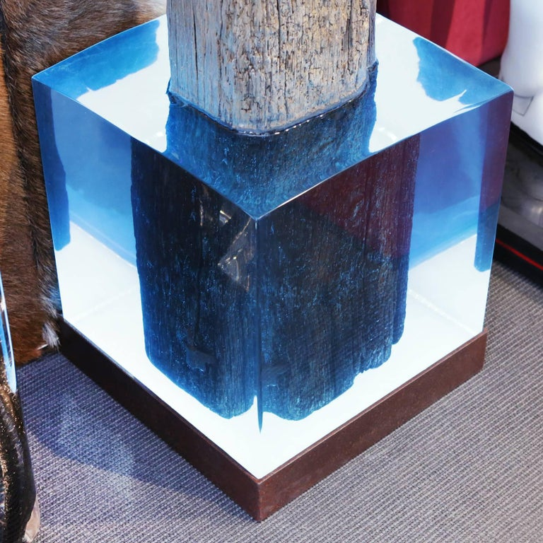 Mooring Venezia Columns Sculpture on Resin Lighted Base In Excellent Condition For Sale In Paris, FR