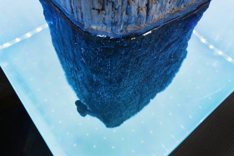 Mooring Venezia Columns Sculpture on Resin Lighted Base For Sale 3