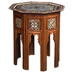Moorish Bone and Mother of Pearl Inlaid Table