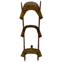 Moorish Brass Inlaid Camel Saddle /Towel Rack