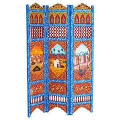 Moorish Hand Painted Oasis Room Divider