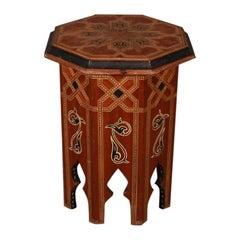 Moorish Inlaid Lamp Table