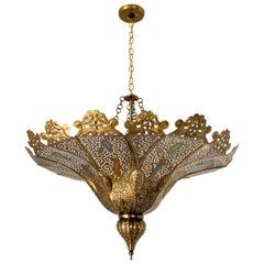 Moorish Moroccan Brass Pasha Chandelier
