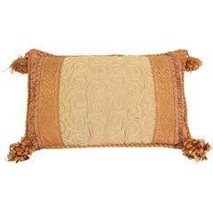 Moorish Style Decorative Gold Throw Pillow